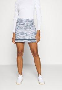 adidas Golf - ULTIMATE SPORTS GOLF SKIRT - Sportovní sukně - glory grey/pink tint - 0