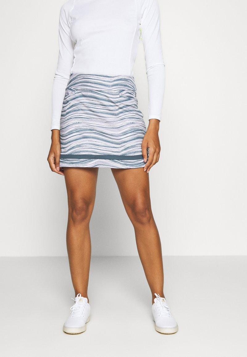 adidas Golf - ULTIMATE SPORTS GOLF SKIRT - Sportovní sukně - glory grey/pink tint