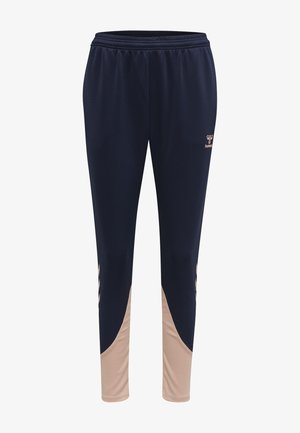 Tracksuit bottoms - marine/dusty pink