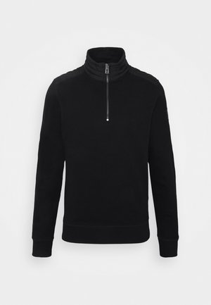JAXON QUARTER ZIP - Mikina - black
