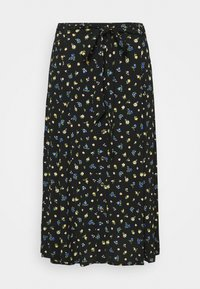 Forever New Curve - AINSLEY BUTTON THROUGH MIDI SKIRT - A-line skirt - black - 3
