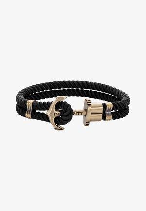 Armband - schwarz/messing