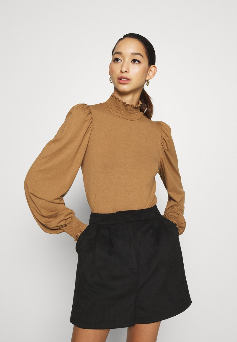 ONLY - ONLELVA  SMOCK - Long sleeved top - toasted coconut