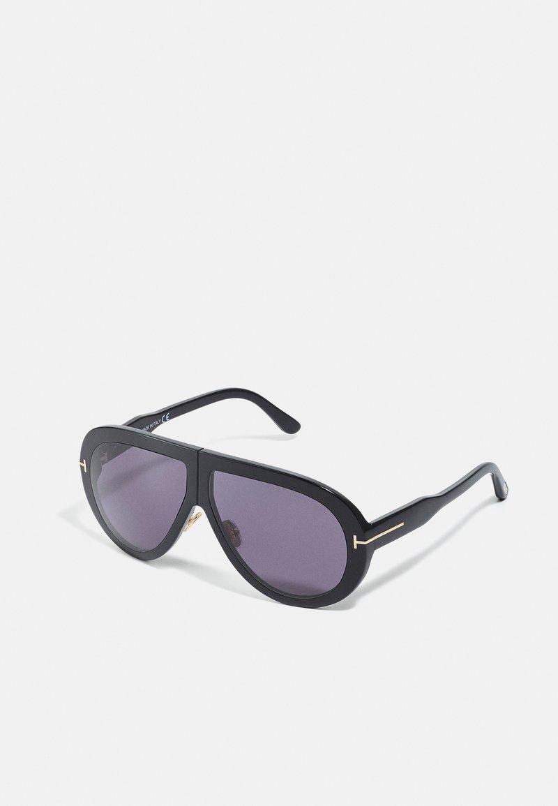 Tom Ford - TROY - Sunglasses - black/smoke
