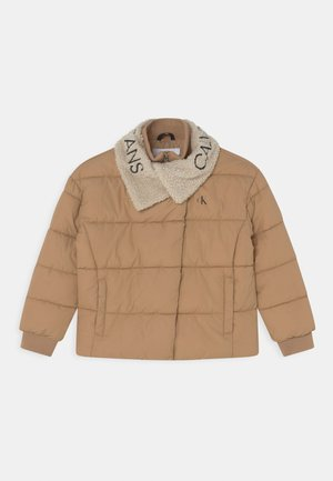 LOGO COLLAR PUFFER - Winter jacket - summer stone