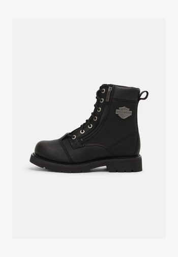 LANDRY - Lace-up ankle boots - black