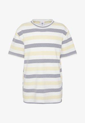 STRIPE TEE - Print T-shirt - yellow