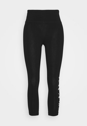 HIGH WAIST CROPPED LENGTH LOGO LEGGING - Tights - black