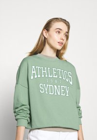 Even&Odd - Printed Crew Neck Sweatshirt - Sweatshirt - green - 3