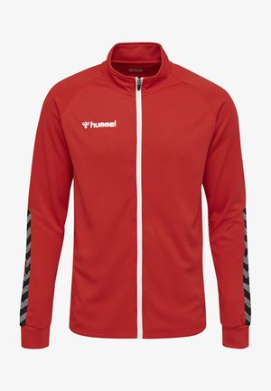 HMLAUTHENTIC - Trainingsjacke - true red