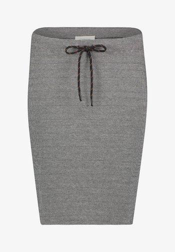 GESCHNITTEN - Pencil skirt - schwarz/grau