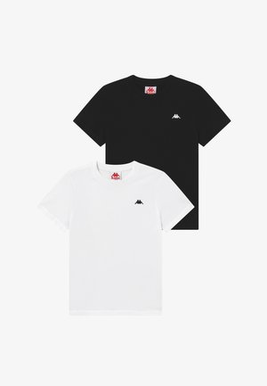 2 PACK - T-Shirt basic - bright white/caviar