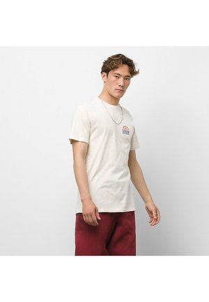 MN STAMPED S/S - Print T-shirt - antique white