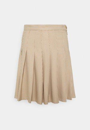 TINDRA SKIRT - Pleated skirt - beige medium dusty