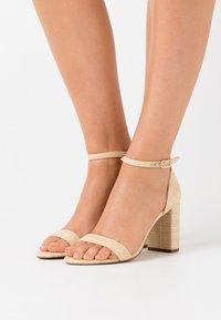 Dune London - MADAM - High heeled sandals - natural - 0
