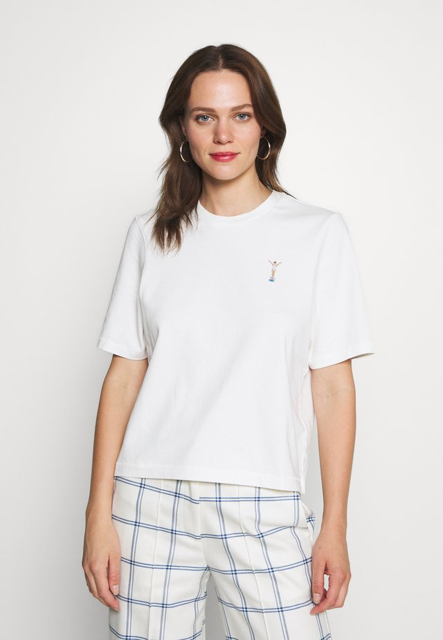 SHORT SLEEVE CROPPED - T-shirts - scandinavian white