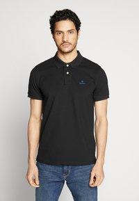 GANT - CONTRAST COLLAR RUGGER - Polo shirt - black - 0