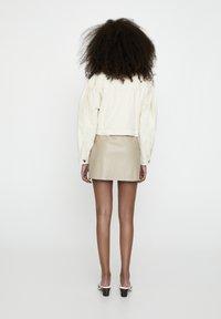 PULL&BEAR - Faux leather jacket - beige - 2