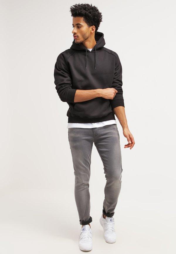 Urban Classics BLANK HOODY - Bluza z kapturem - black/czarny Odzież Męska FAVD