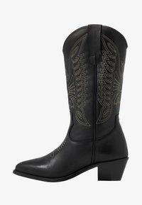 Zign - Kovbojské/motorkářské boty - black - 1