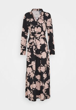ONLALMA LIFE DRESS - Korte jurk - black/vintage flower