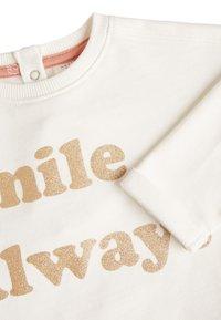 Next - RUST/ECRU SLOGAN TOP AND LEGGINGS SET (0MTHS-2YRS) - Sweatshirt - off-white - 5