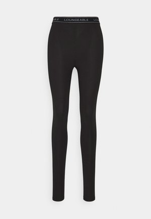LOGO LEGGING - Pyjama bottoms - black