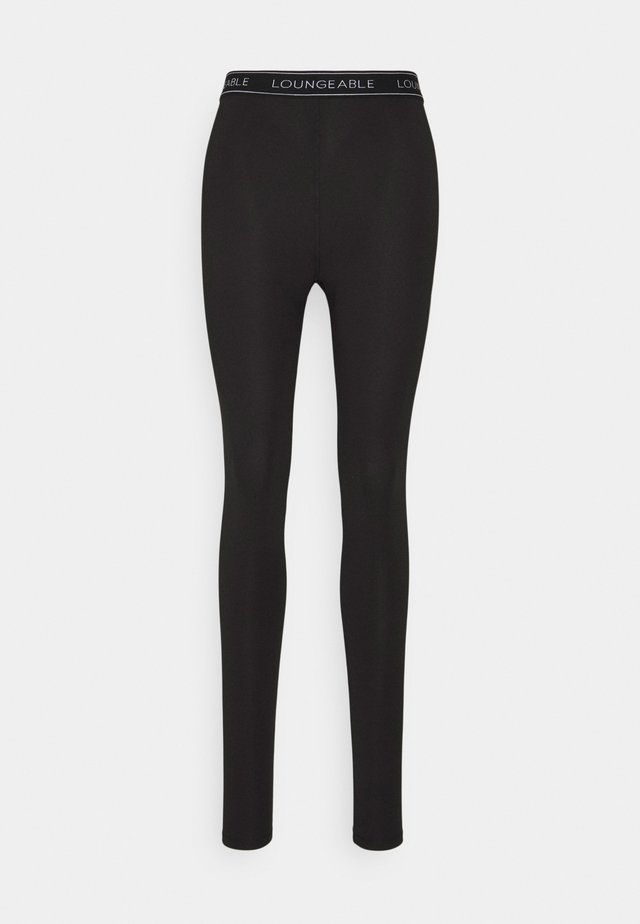 LOGO LEGGING - Pyjamabroek - black