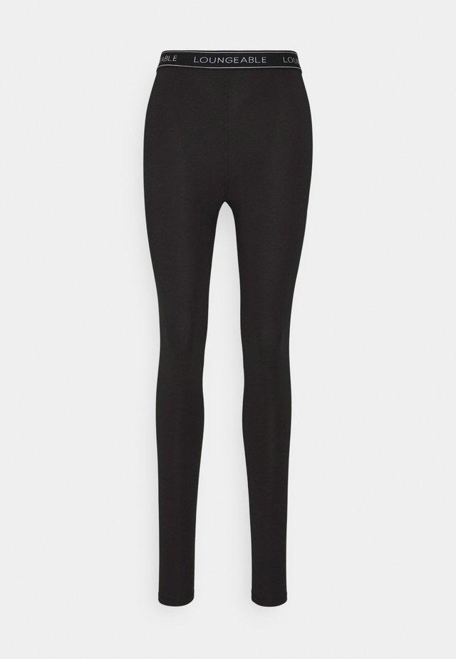 LOGO LEGGING - Pyjama bottoms - black