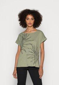 Esprit - STRAPBOW - T-shirts med print - light khaki - 0
