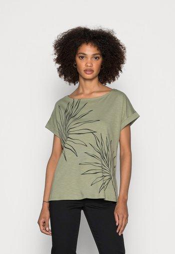 STRAPBOW - Print T-shirt - light khaki