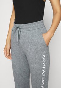 Armani Exchange - TROUSER - Tracksuit bottoms - grey heather - 4