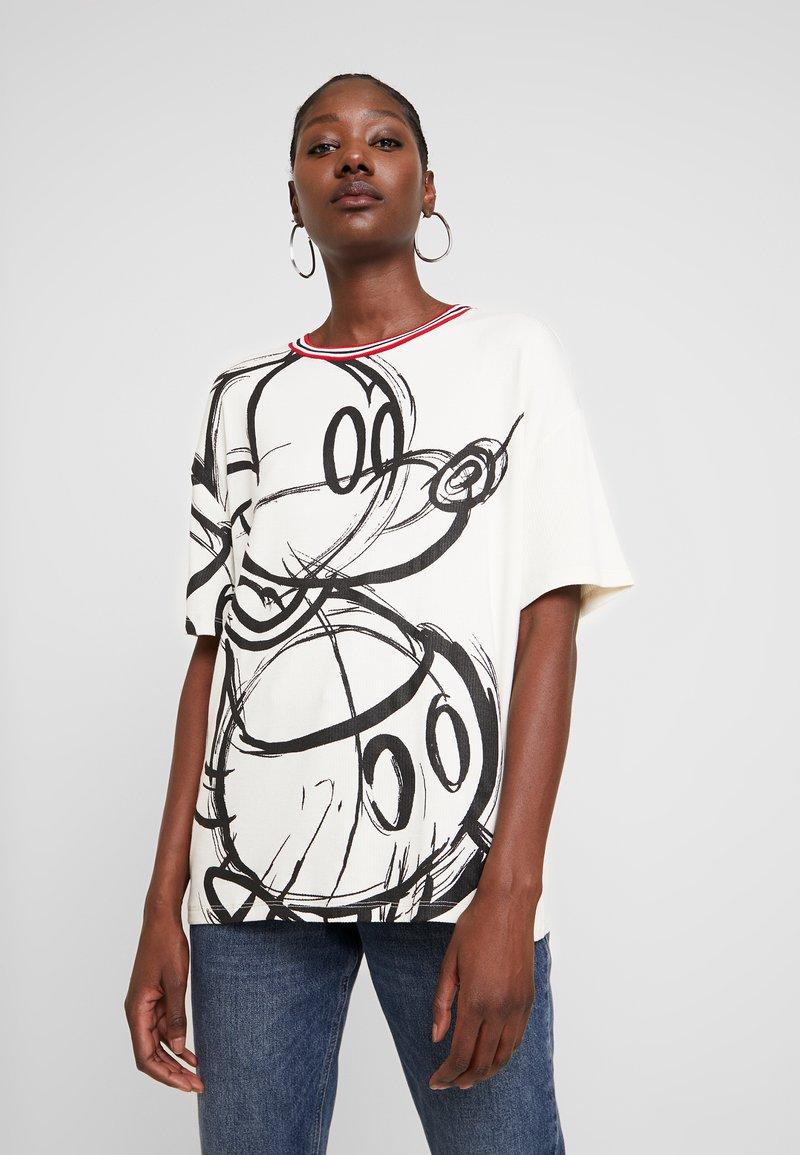 Desigual - LOVE MICKEY - T-shirts med print - blanco