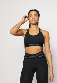 Calvin Klein Performance - LOW SUPPORT BRA - Sport BH - black - 0