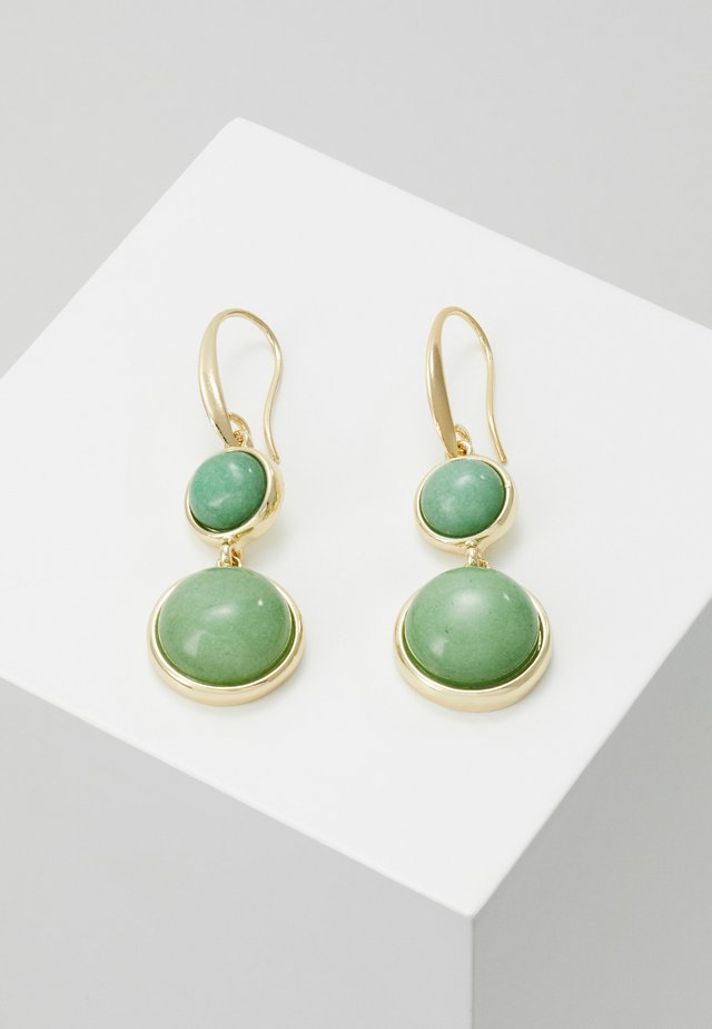 AGATHA PENDANT EAR - Boucles d'oreilles - gold-coloured/green