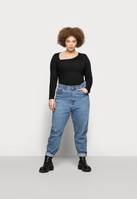 Even&Odd Curvy - Long sleeved top - black - 1