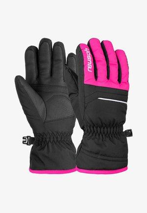 ALAN JUNIOR - Gloves - black pink glo