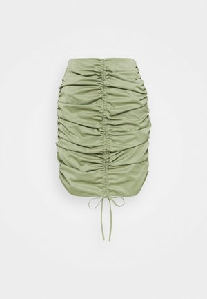 RUCHED SKIRT - Minifalda - khaki