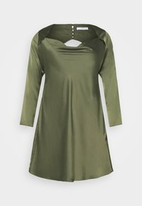 Glamorous Curve - MINI DRESS WITH LONG SLEEVES SQUARE NECK AND CUT OUT BACK - Cocktail dress / Party dress - forest green - 5