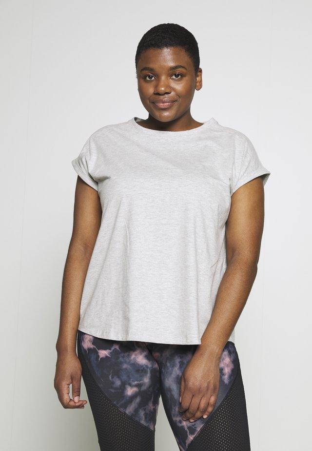 T-shirt basic - mottled grey