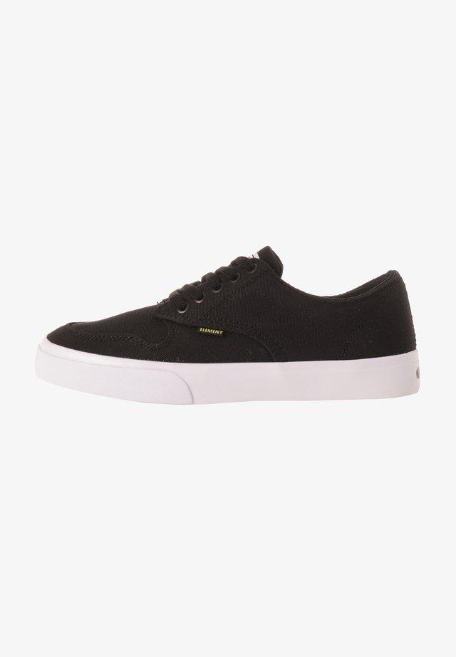 TOPAZ - Sneakers laag - black white