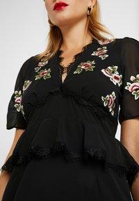 Hope & Ivy Petite - PEPLUM WAIST MIDI DRESS WITH  - Vestito elegante - black - 6