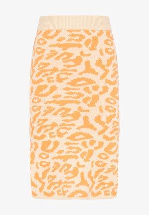 Pouzdrová sukně - beige orange