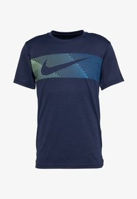 Nike Performance - Print T-shirt - obsidian/white - 3