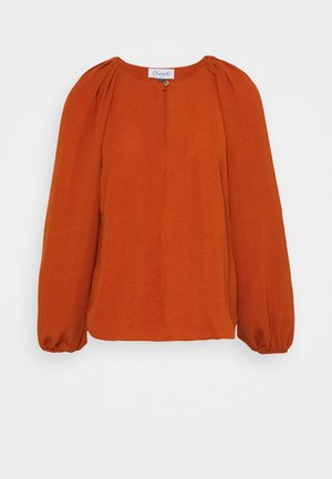 GATHERED RAGLAN BLOUSE - Blouse - rust