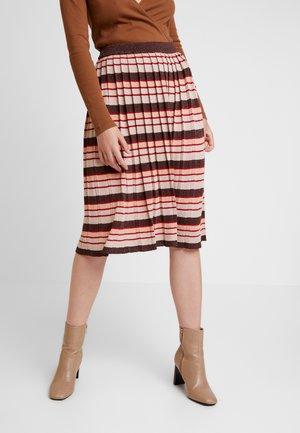 A-line skirt - puce/natural melange/ketchup/canyon