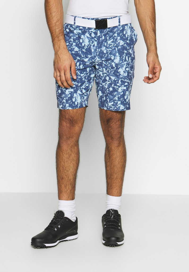 Under Armour - LINKS PRINTED SHORT - Pantaloncini sportivi - blue frost/mod gray/blue ink