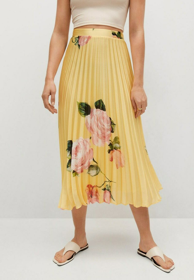 Mango - A-line skirt - gelb