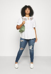 Simply Be - PUFF SLEEVE - Blouse - ivory - 1