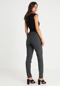 Kaffe - RONIE PANTS - Trousers - dark grey melange - 3